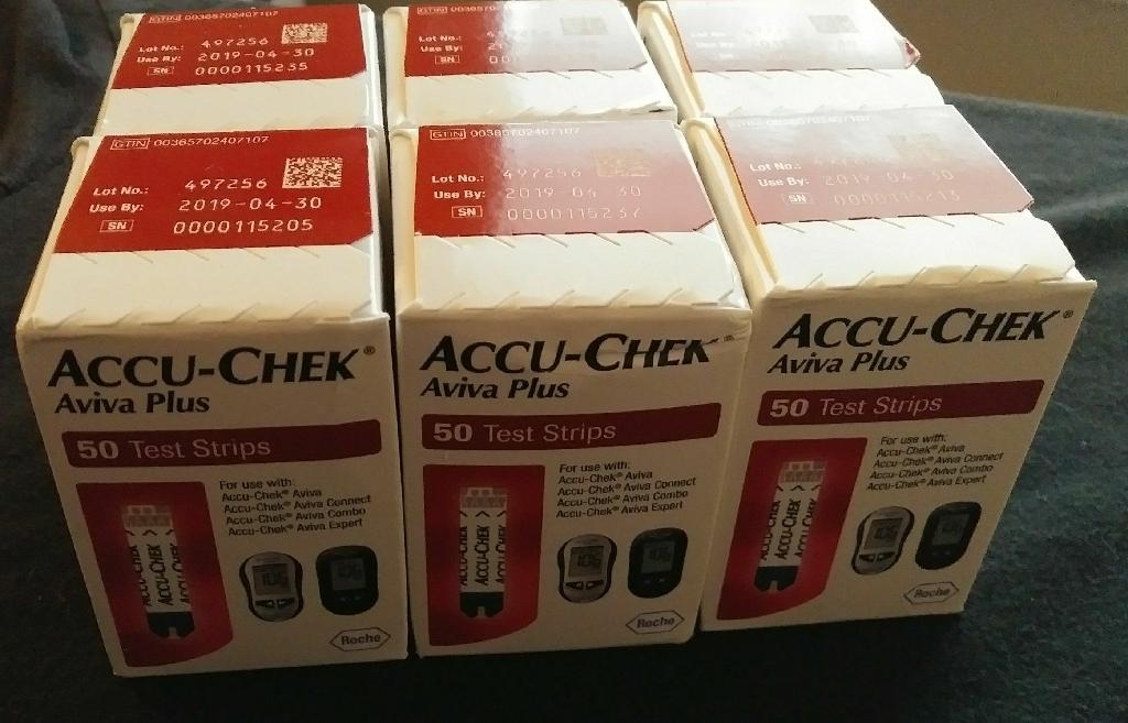 Accu Chek Aviva Plus Strips (4boxes) NEW