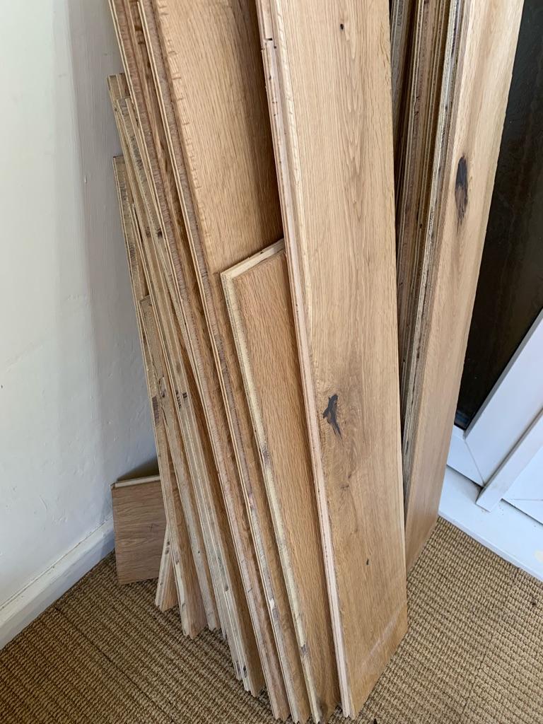Engineered rustic oak flooring