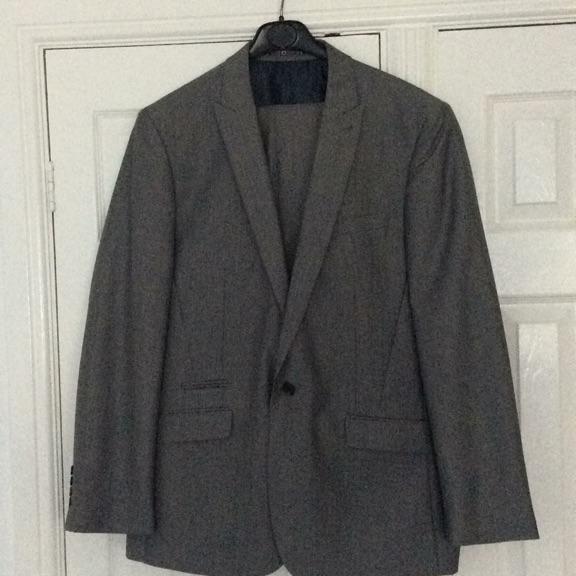 Grey men's suit