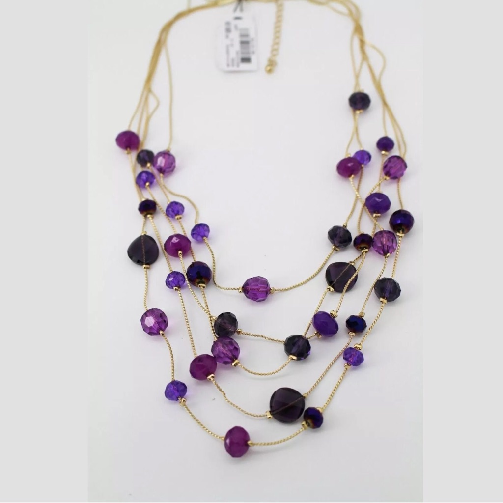 Style & co Gold tone amethyst necklace