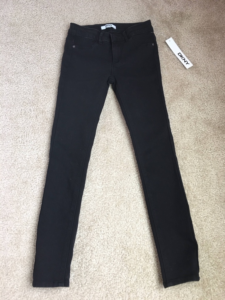 Girl's skinny black pants, size 10