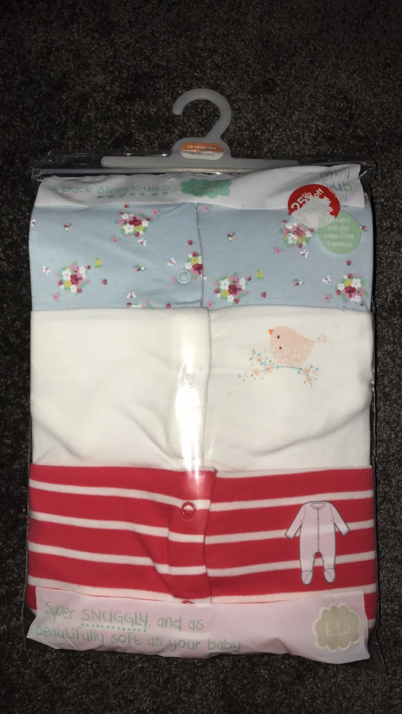 18/24 month baby grows/sleepsuits