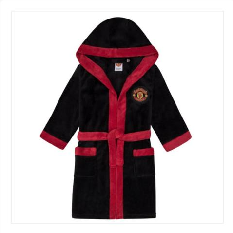 MANCHESTER UNITED FC   HOODED FLEECE   DRESSING GOWN / ROBE