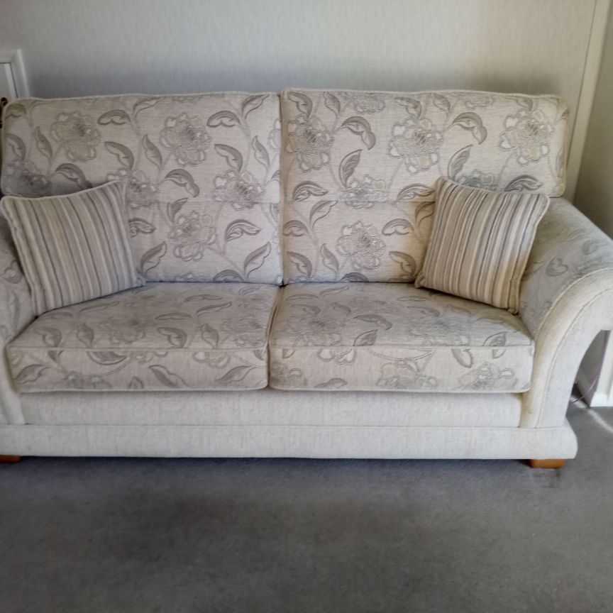 Frank Knighton 3 seater sofa and chair