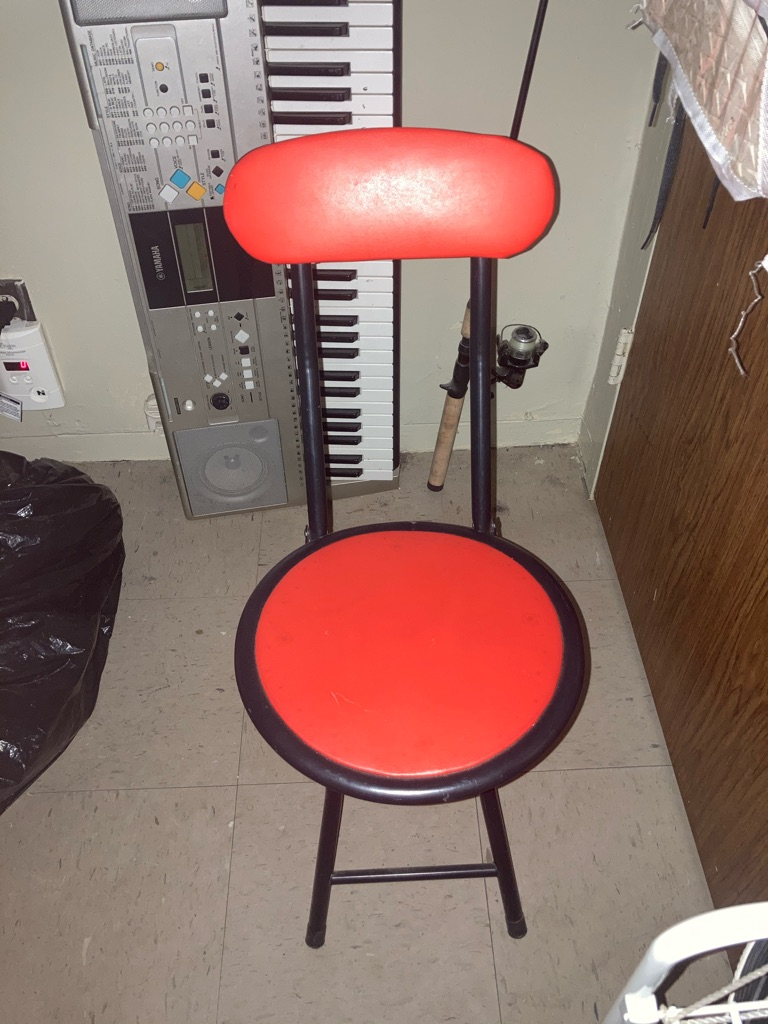 Red cushioned chair