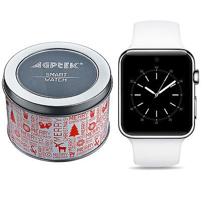 White Bluetooth Smart Watch compatible with iOS and Android Phones