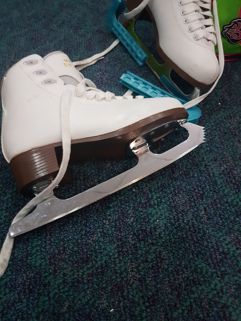 White leather ice skated