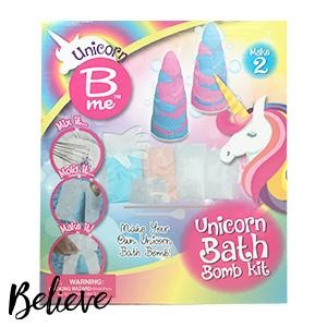 Unicorn bath bomb kit