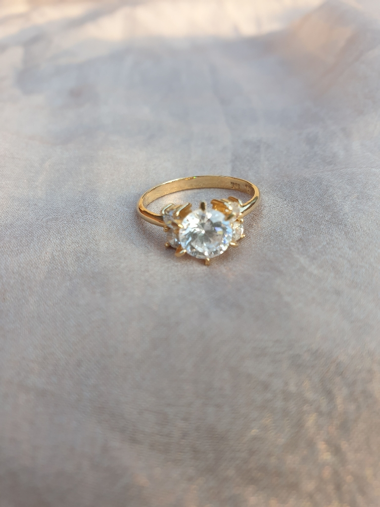 Faux diamond ring