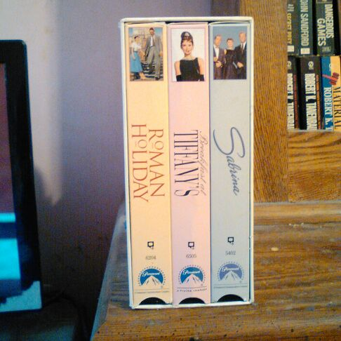 3 movie set of Audrey Hepburn on VHS