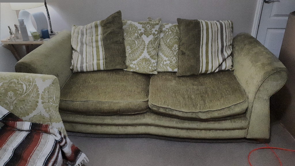 Sofa and large single arm chair