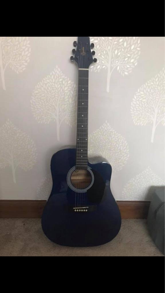 Blue Ridgewood acoustic/electric guitar