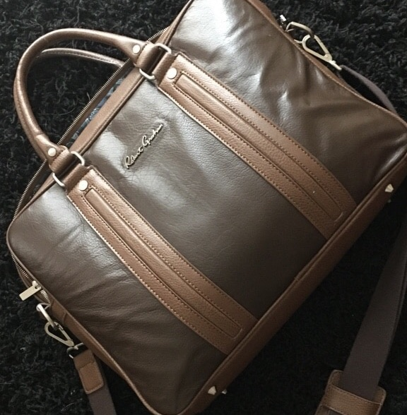 RG roman leather crossbody bag