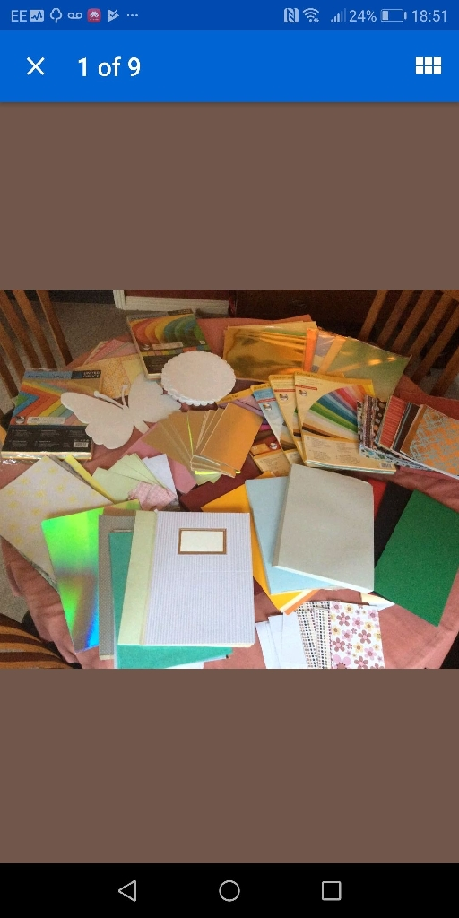 Job lot card and paper card making crafts Lots sizes and colours