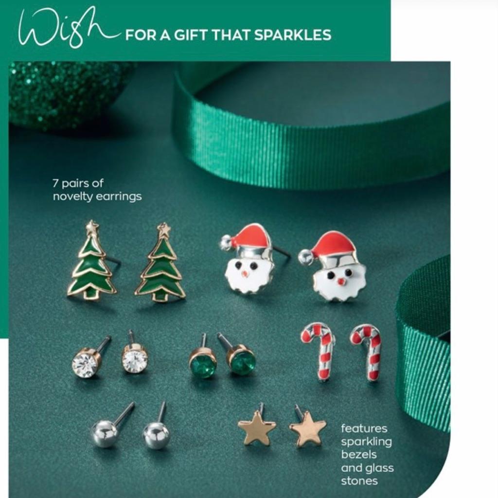 7 piece Christmas earrings gift set