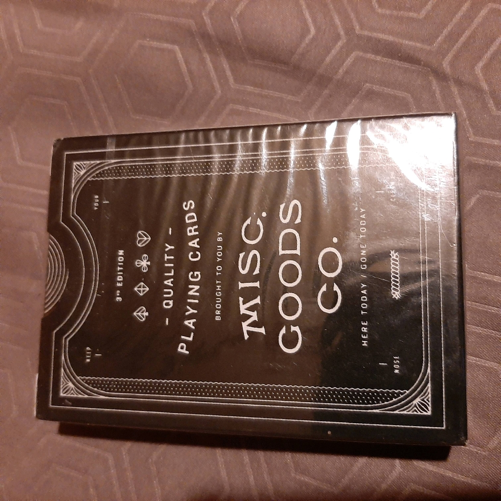2 Decks Of Misc. Goods Co. 3rd Edition Quality Playing Cards - Black - Sealed
