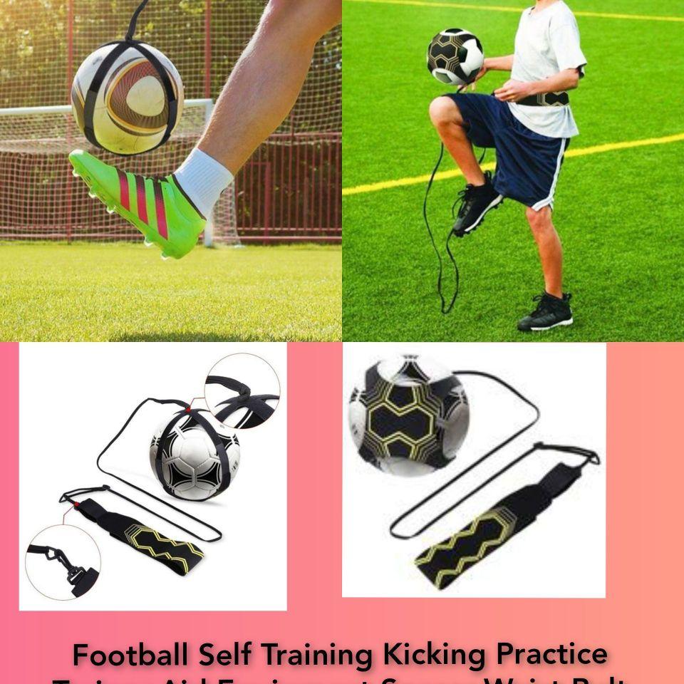 Football Self Training Kicking Practice Trainer Aid Equipment Soccer