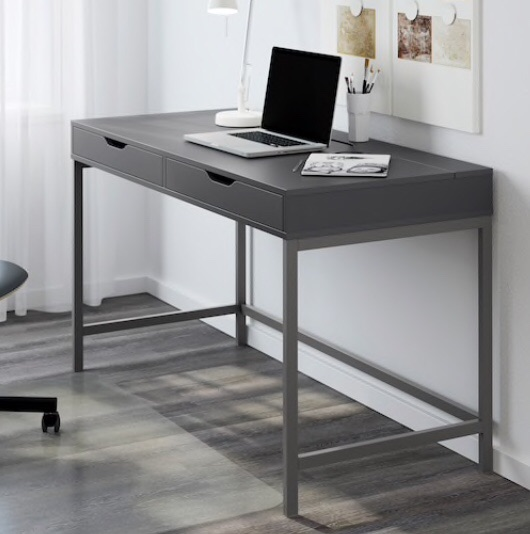 Grey ALEX IKEA desk