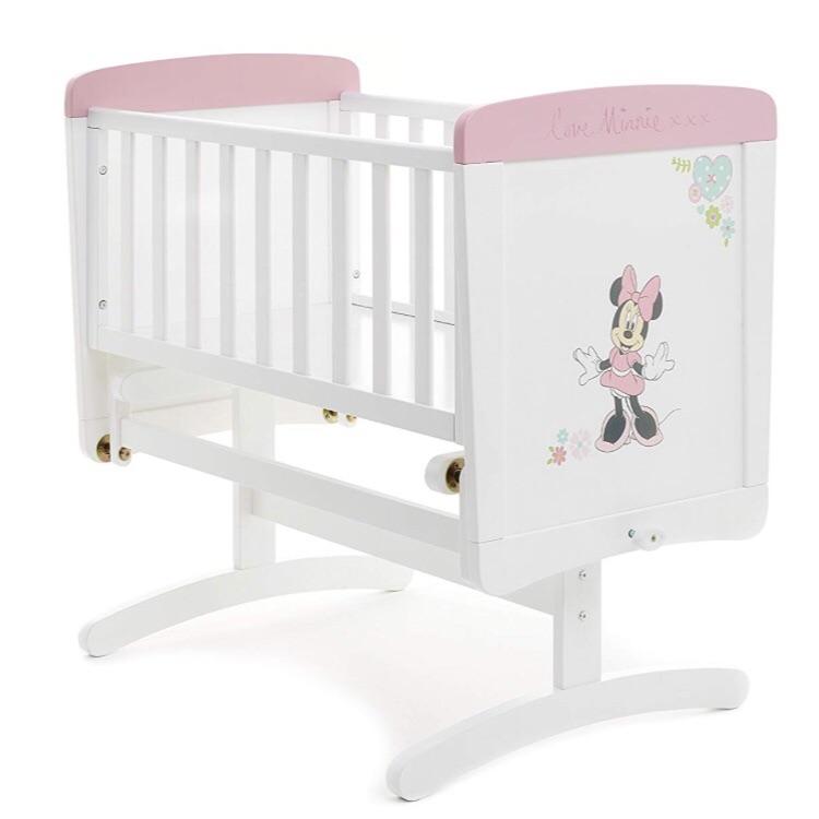 Baby crib, fibre mattress, waterproof mattress protector and two new sheets
