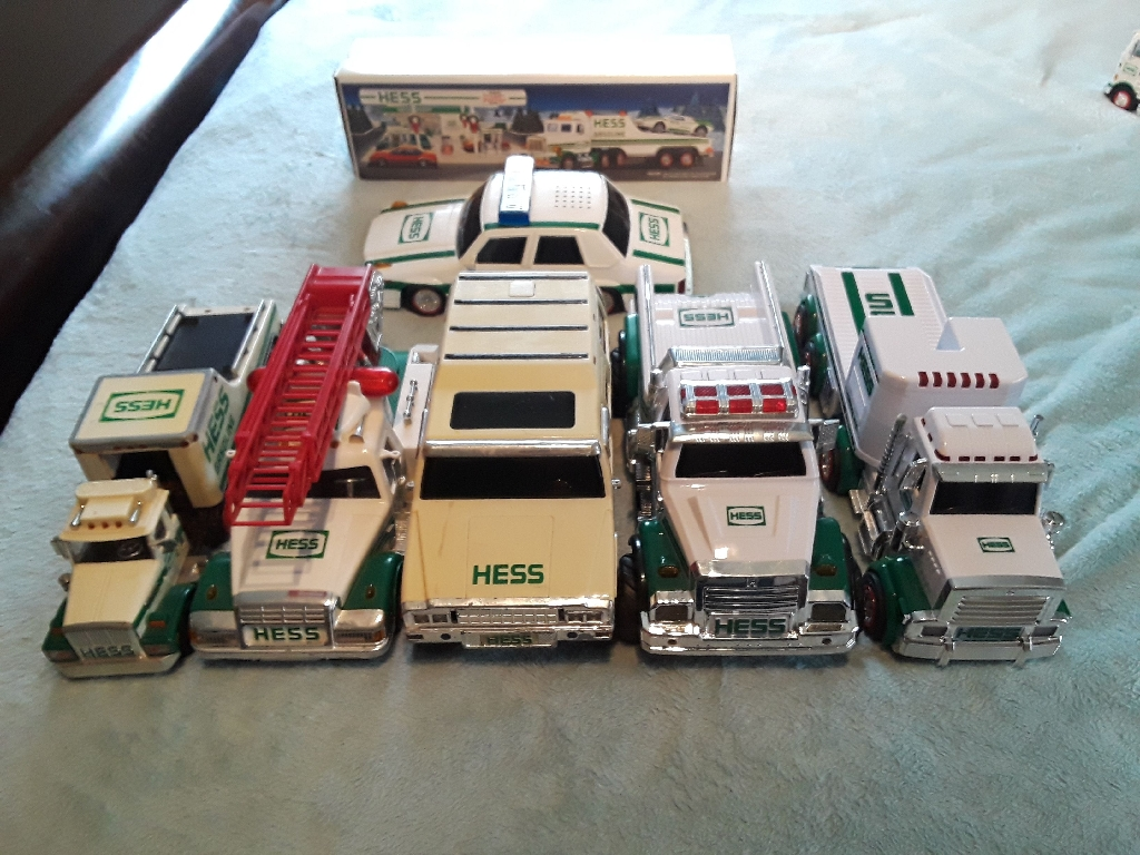 Hess Trucks and Police Car