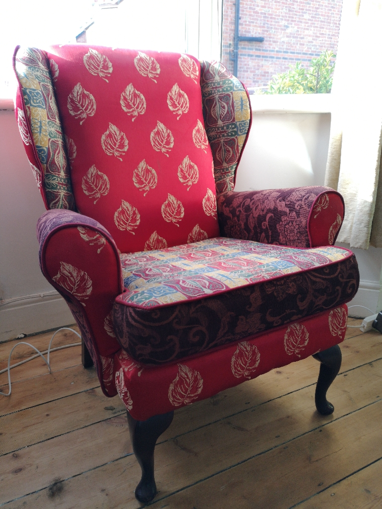 Stunning wing back arm chair
