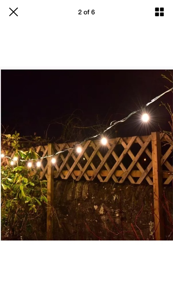 50m Indoor/Outdoor Festoon Fairy Lights - wedding/party