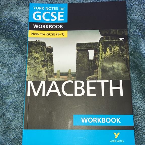 AQA GCSE Macbeth workbook never used