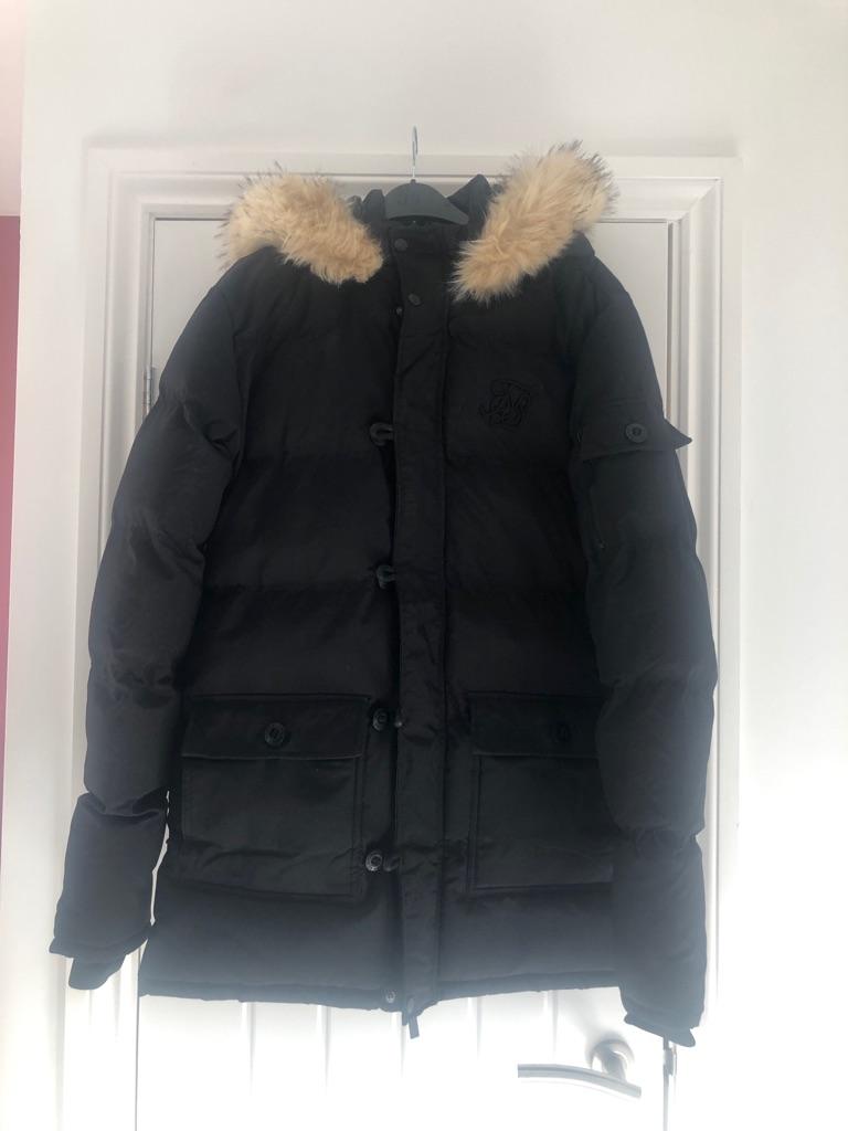 Siksilk men's Parker coat. Size medium.
