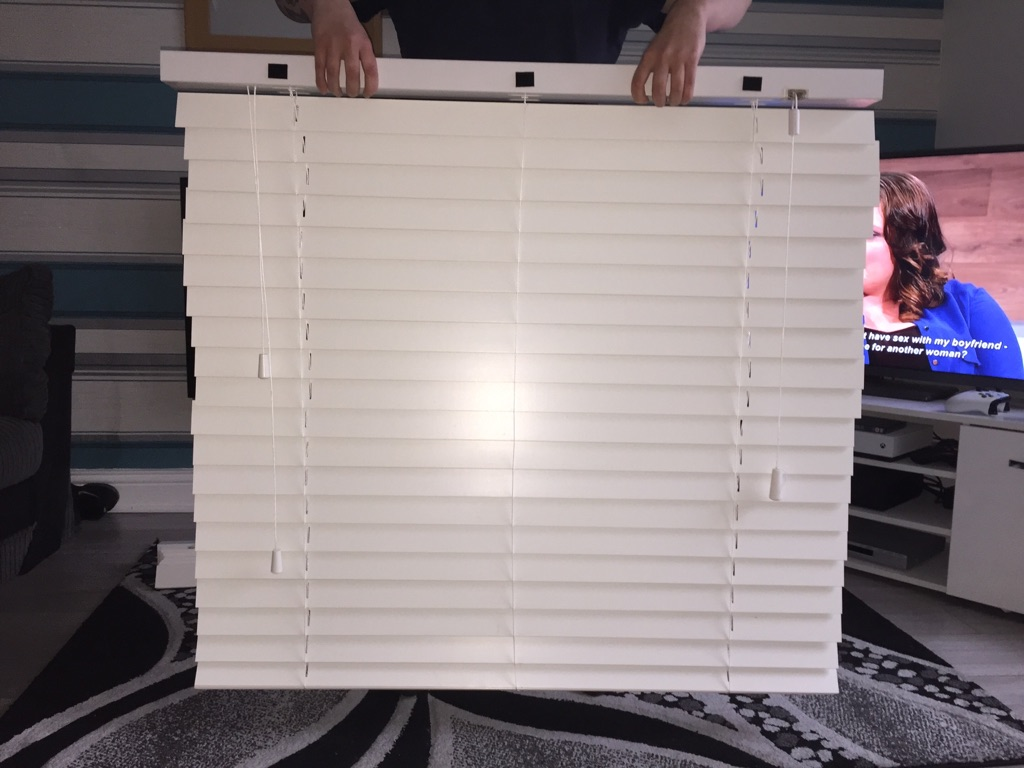 White wooden blinds x2
