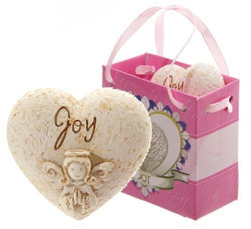 Joy angel whisper heart in gift bag