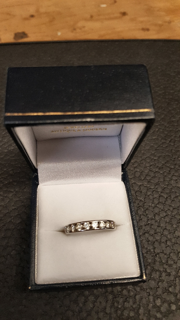 9ct White Gold Diamond Eternity Ring With Valuation Certificate