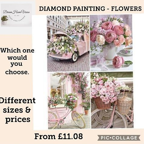 Do you love doing Diamond art.💖 Which one do you like best.💥