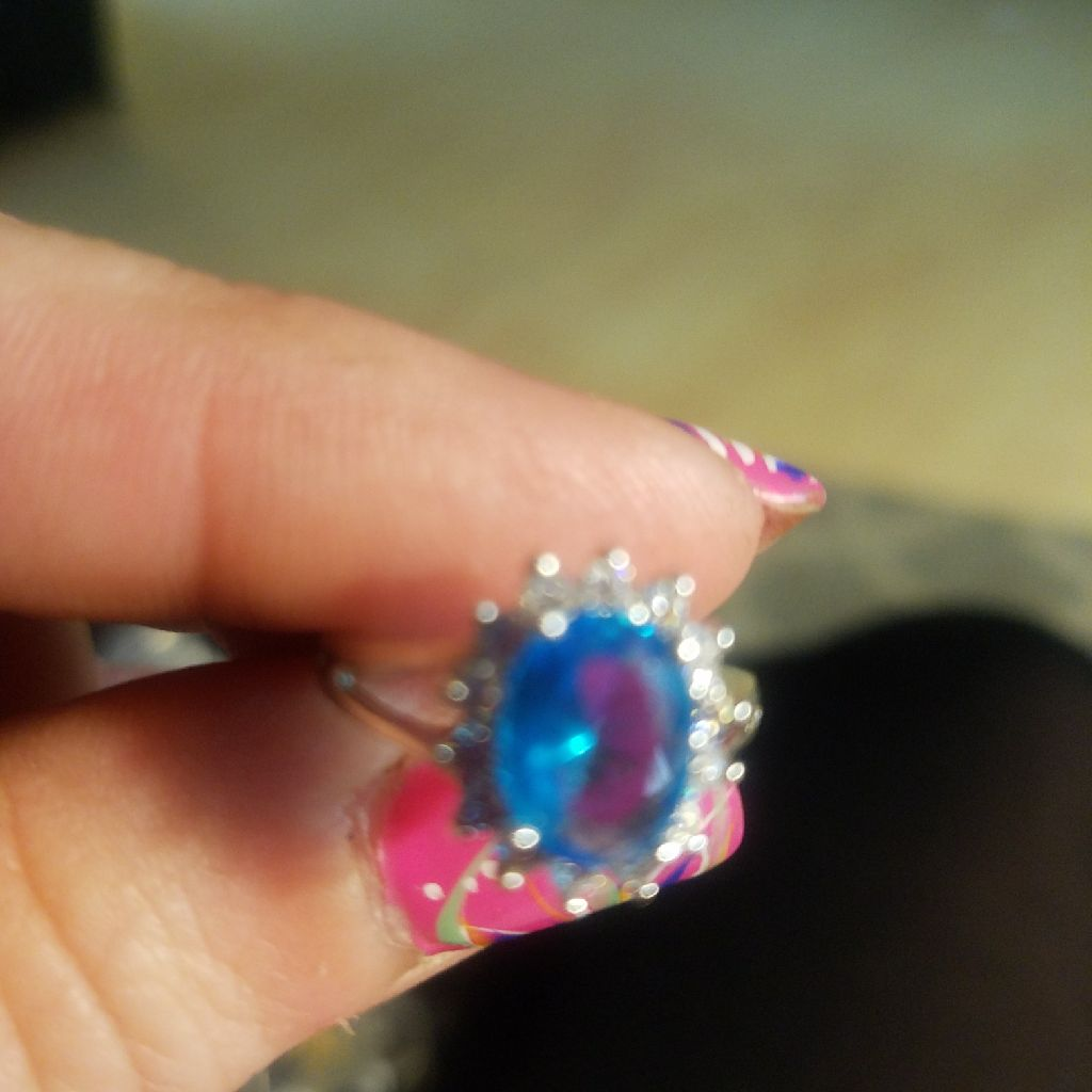 Blue ring size7