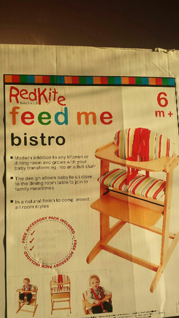 Feed me Redkite high chairs and Red kite walker