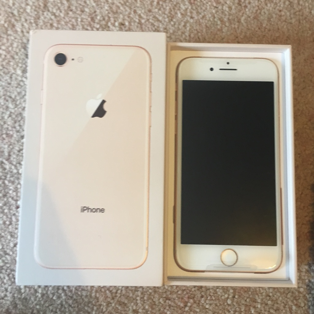 iPhone 8, 62 GB, Gold, New & still in box