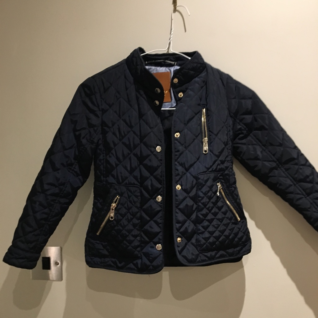 Zara navy girls jacket
