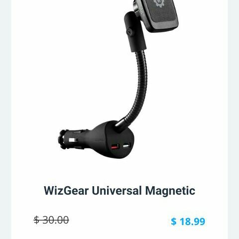 Car mount and charger with cord