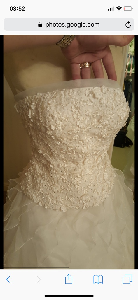 Wedding dress size 16