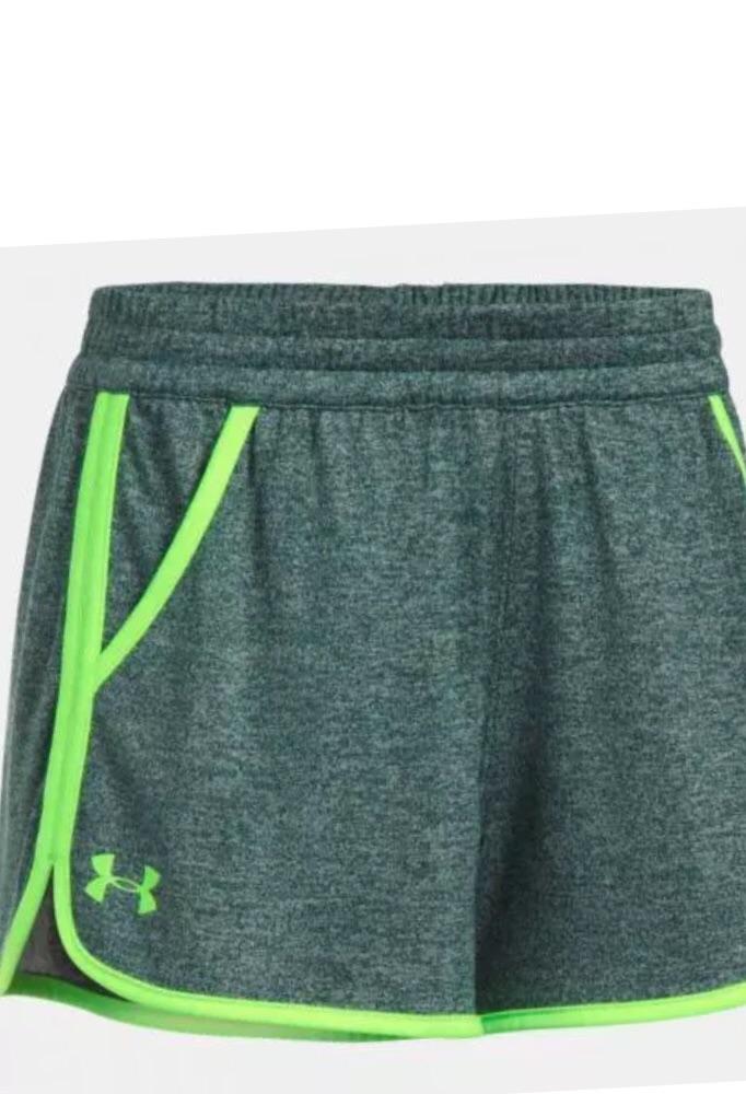 Under Armour green Tech Twist Gym Shorts Size XS 6 brand new