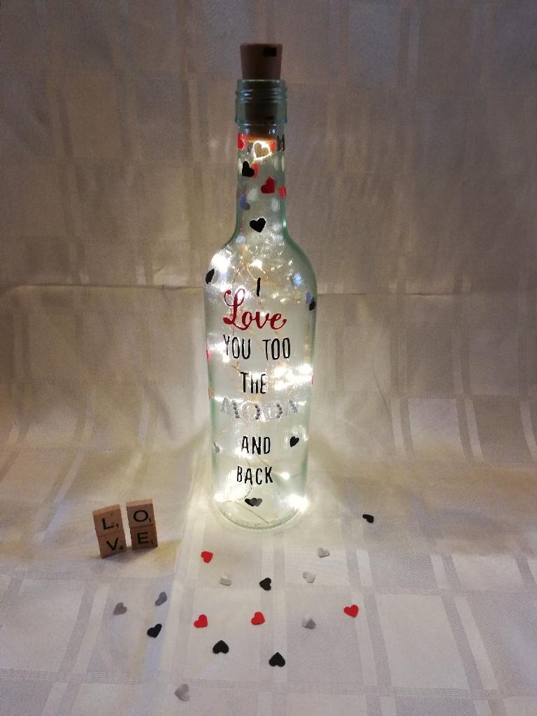 Handmade valentine's bottles