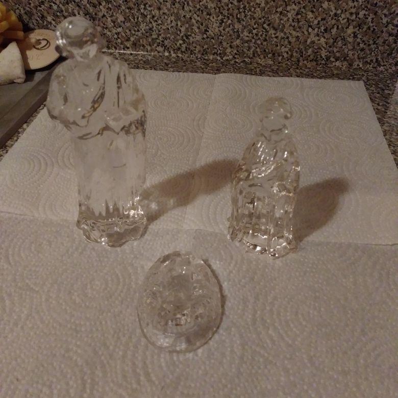 Vintage Nativity 3 piece set