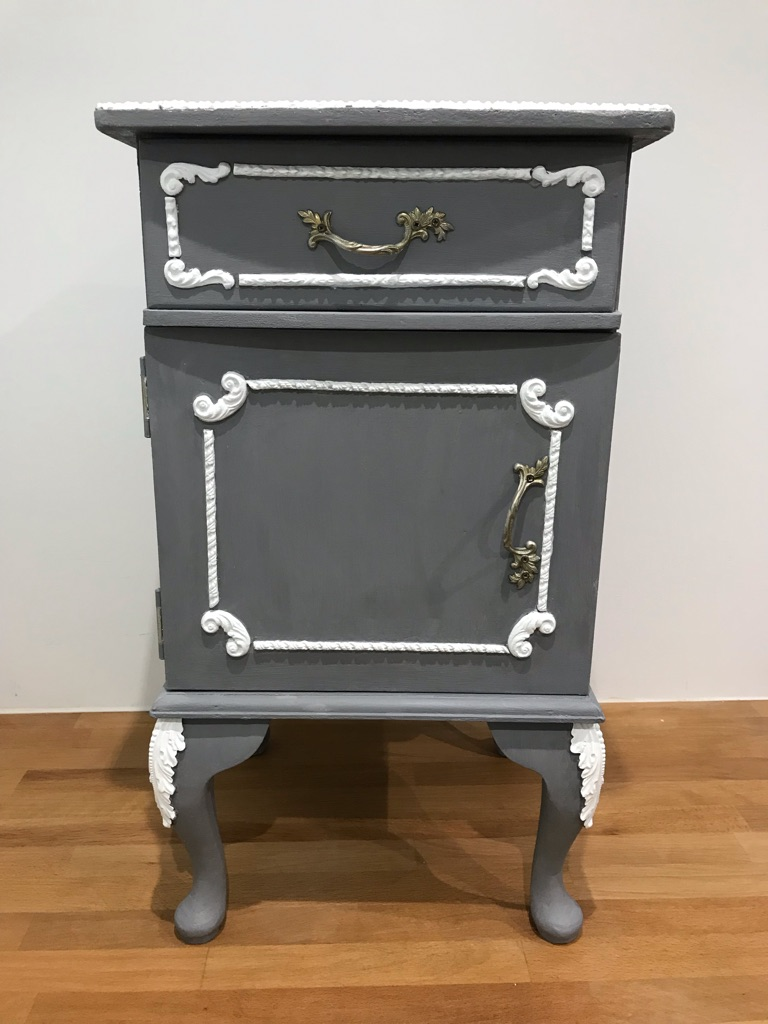Up-Cycled French Style Bedside Table