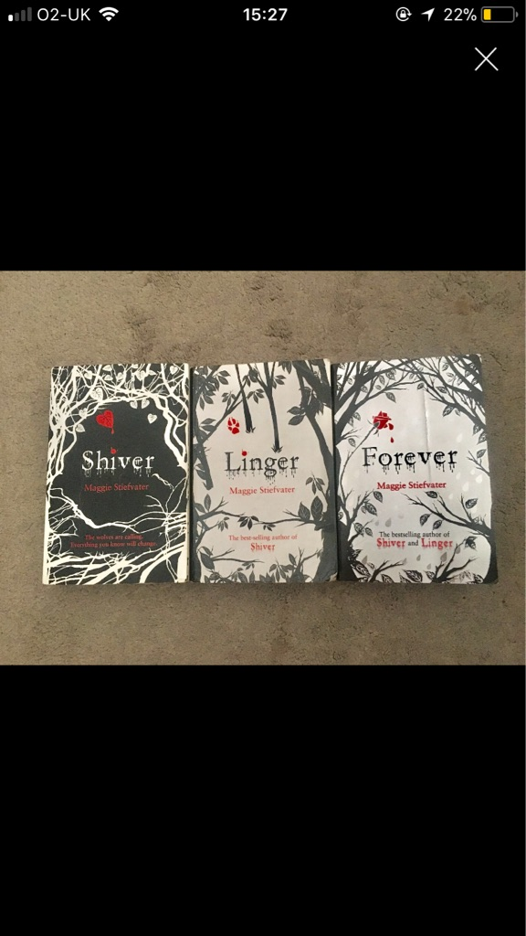 Shiver series of books by Maggie stiefvater