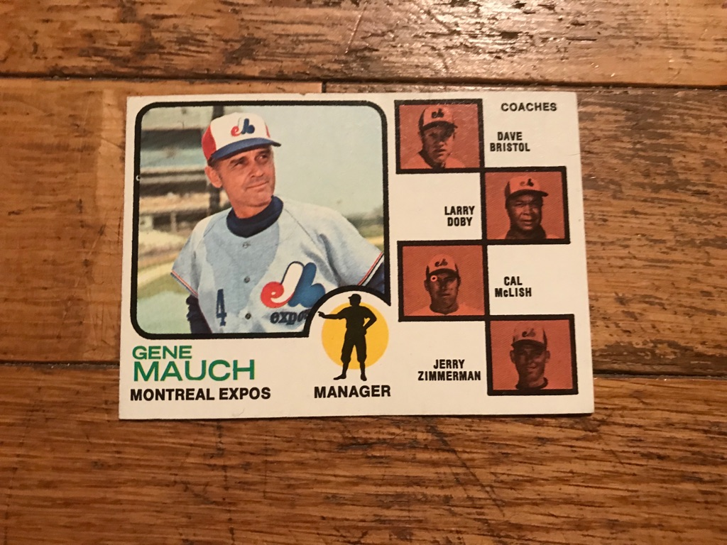 1973 Topps Gene Mauch Montreal Expos Baseball Card