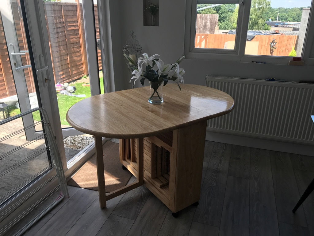 John Lewis folding table with 4 chairs