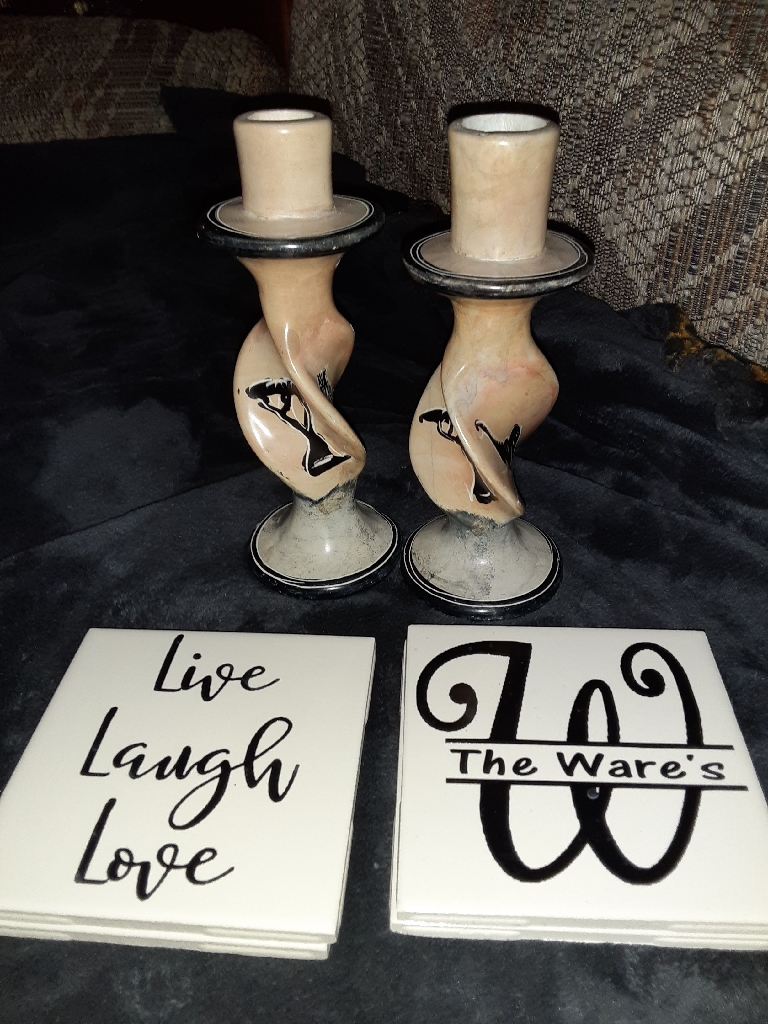 Very unique Candle Holder and Coasters