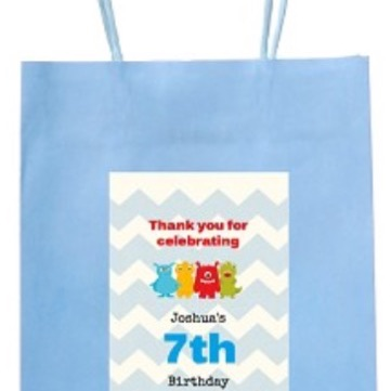 Personalised monsters party bag with handle
