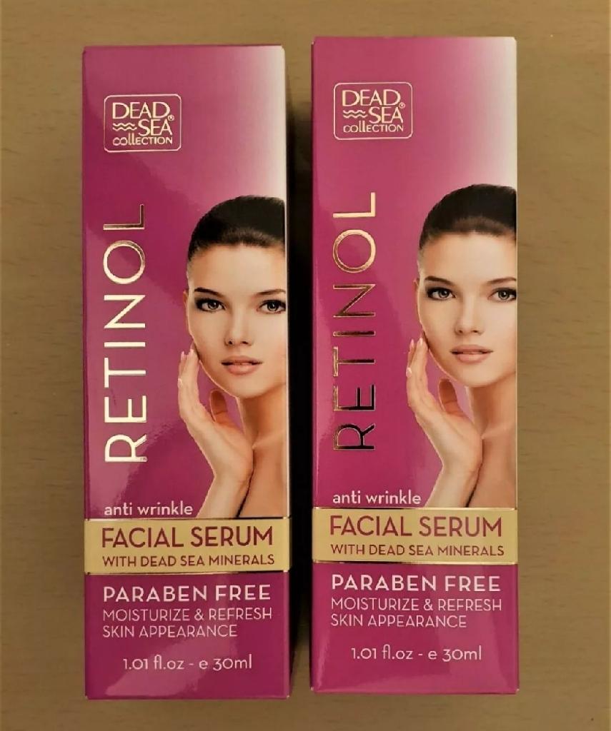 2 X 30ml Dead Sea Collection Anti Wrinkle Retinol Facial Serum.