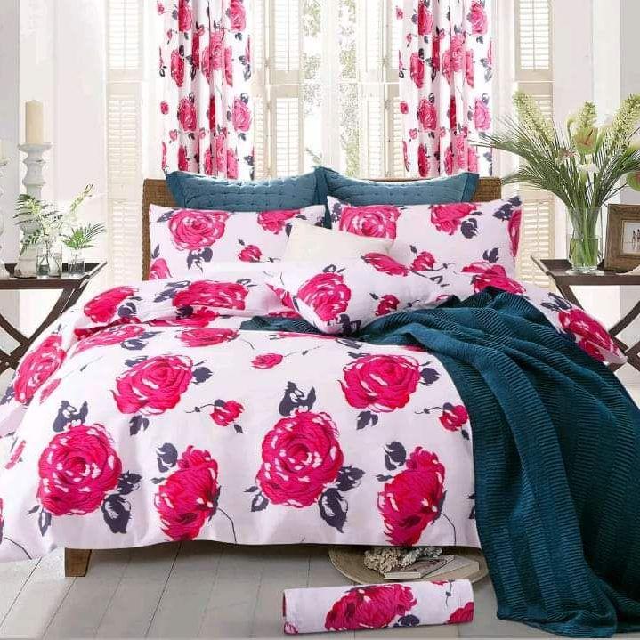 Pink rose 4pcs duvet set