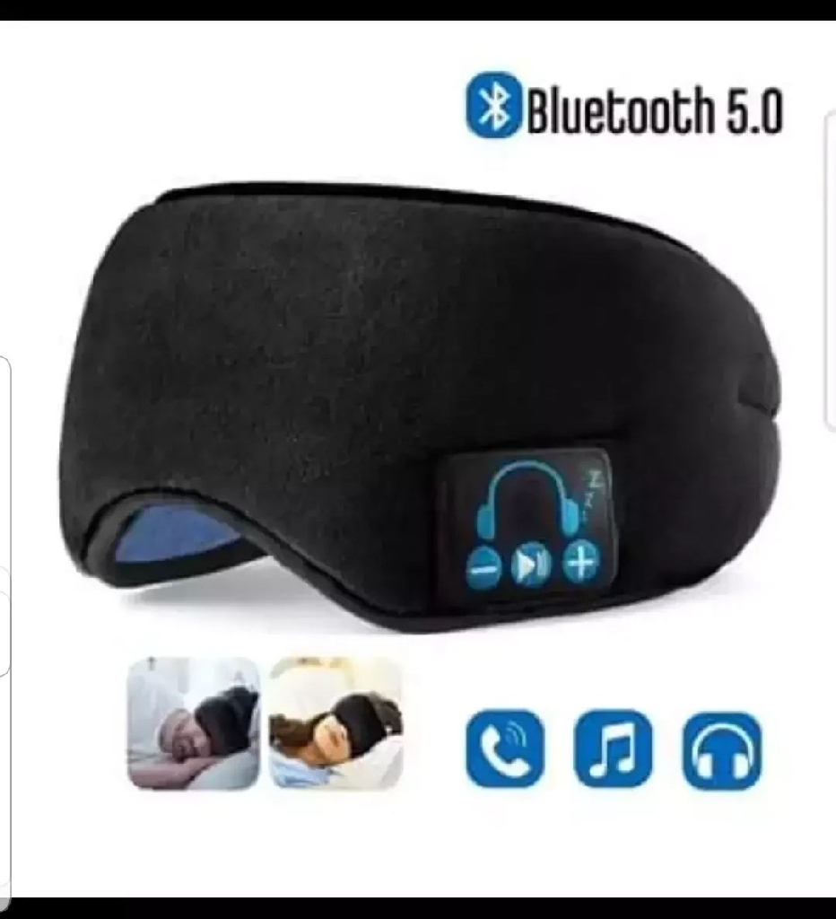 Upgraded Sleep Eye Mask Bluetooth 5.0, Wireless Sleep Headphones - Black / Grey / Leopard Print